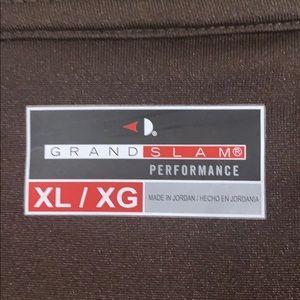 Grand Slam Shirts - Grand Slam Golf Long Sleeve Polo Brown XL